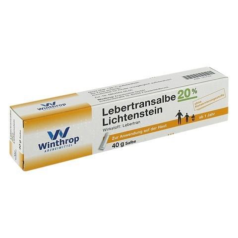 Lebertransalbe 20% Lichtenstein 40 Gramm