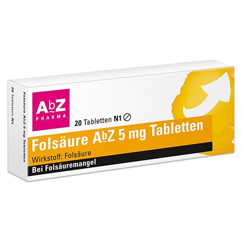 FOLSÄURE ABZ 5 mg Tabletten 20 Stück N1