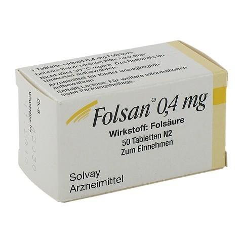 Folsan 0,4mg 50 Stück N2