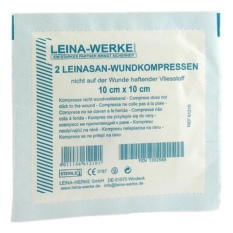 LEINA Wundkompressen 10x10 cm steril 2 Stück