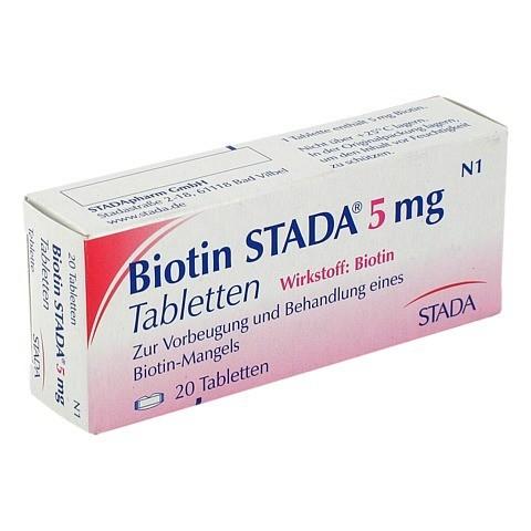 BIOTIN STADA 5 mg Tabletten 20 Stück N1