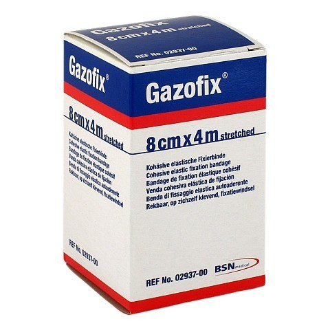 GAZOFIX Fixierbinde 8 cmx4 m hautf. 1 Stück