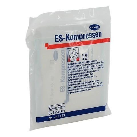 ES-KOMPRESSEN steril 7,5x7,5 cm 8fach 5x2 Stück