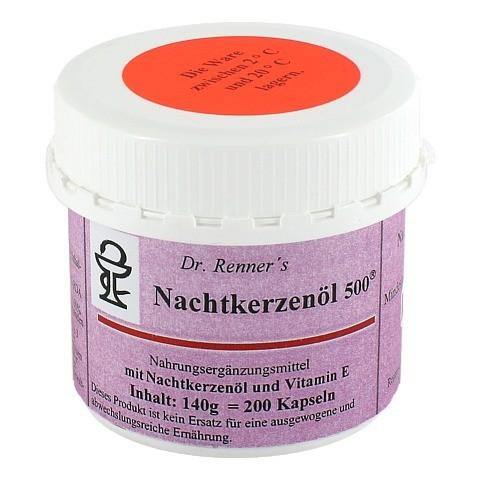 NACHTKERZENÖL 500 mg Dr.Renner's Kapseln 200 Stück