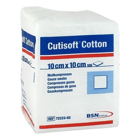 CUTISOFT Cotton Kompr.10x10 cm unsteril 100 Stück