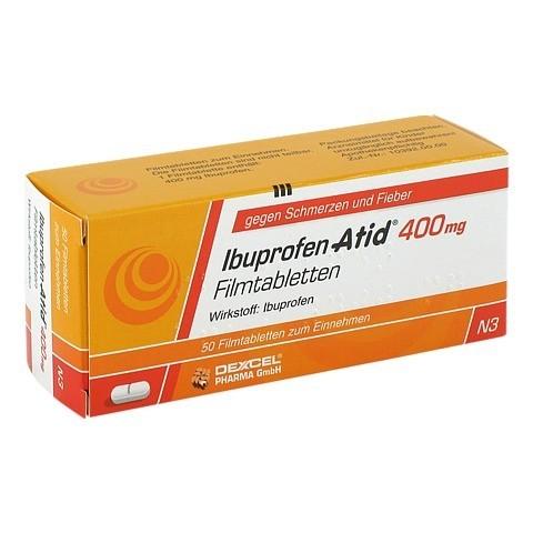 erfahrungen zu ibuprofen atid 400 mg filmtabletten 50 st ck n2 medpex versandapotheke. Black Bedroom Furniture Sets. Home Design Ideas