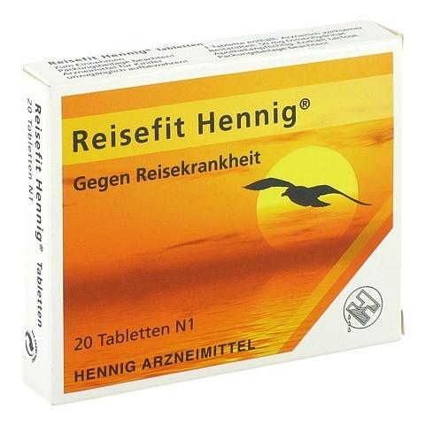 Reisefit Hennig 50mg 20 Stück N1