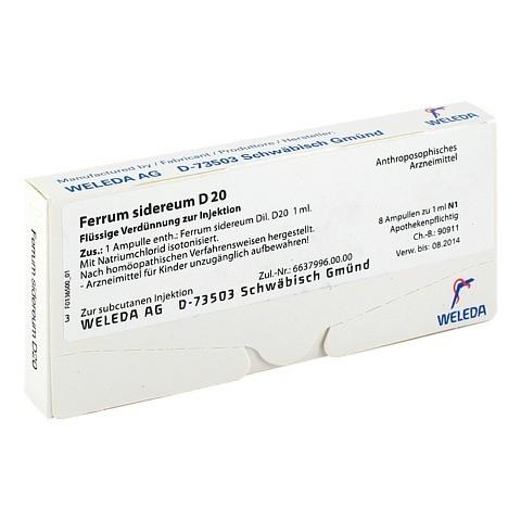 FERRUM SIDEREUM D 20 Ampullen 8x1 Milliliter N1