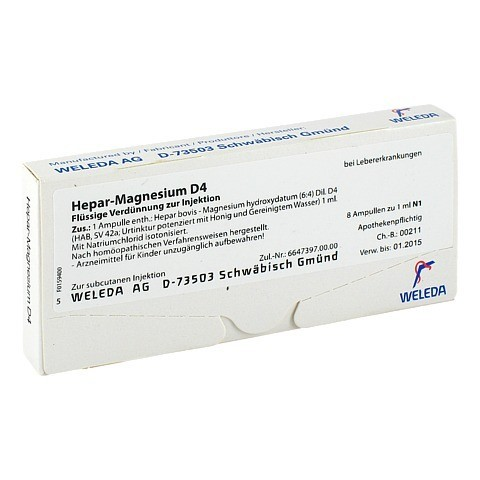 HEPAR MAGNESIUM D 4 Ampullen 8 Stück N1