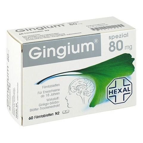 GINGIUM spezial 80 mg Filmtabletten 60 Stück N2