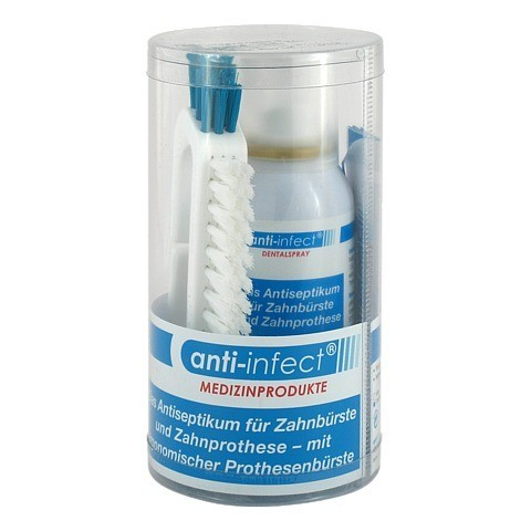 ANTI-INFECT Dentalspray 100 ml+Prothesenbürste 1 Packung