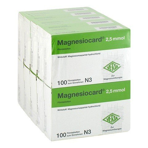 Magnesiocard 2,5mmol 10x100 Stück