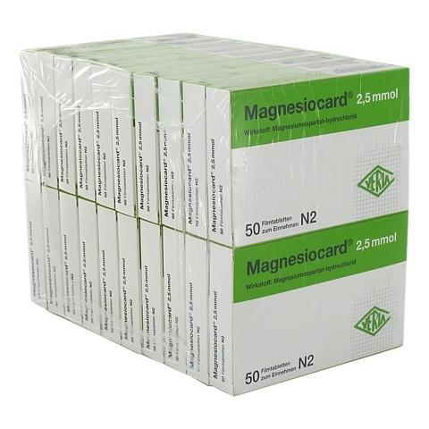 MAGNESIOCARD 2,5 mmol Filmtabletten 20x50 Stück