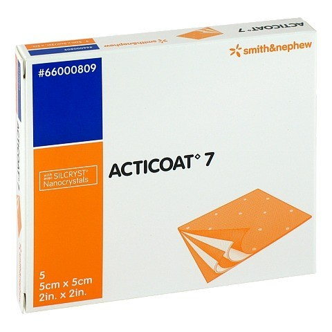 ACTICOAT 7 5x5 cm antimikrob.Wundaufl.7-Tage 5 Stück