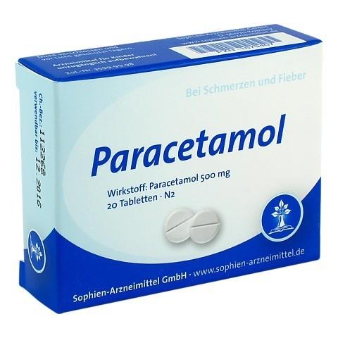 Paracetamol 500 Sophien 20 Stück N2