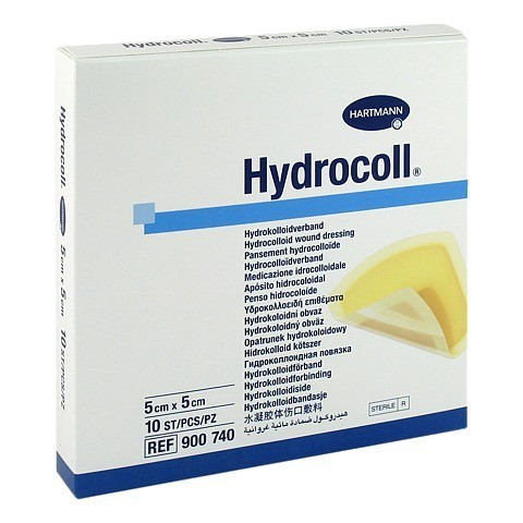 HYDROCOLL Wundverband 5x5 cm 10 Stück