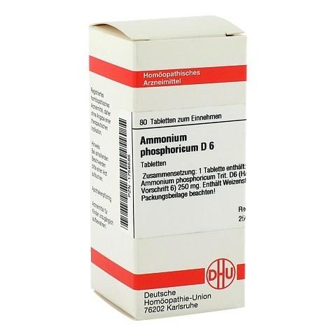 AMMONIUM PHOSPHORICUM D 6 Tabletten 80 Stück N1