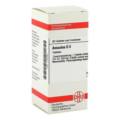 AESCULUS D 3 Tabletten 80 Stück N1