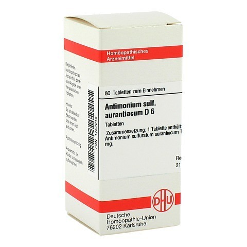 ANTIMONIUM SULFURATUM aurantiacum D 6 Tabletten 80 Stück N1