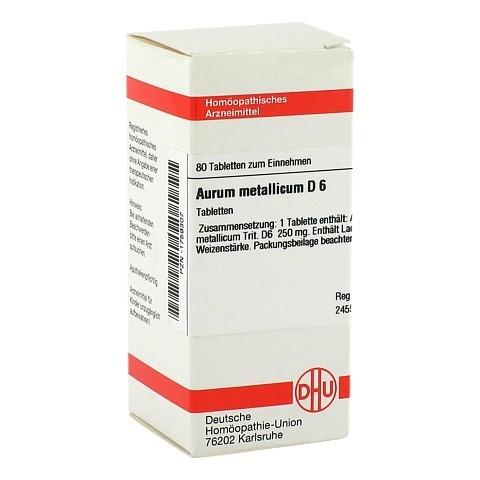 AURUM METALLICUM D 6 Tabletten 80 Stück N1