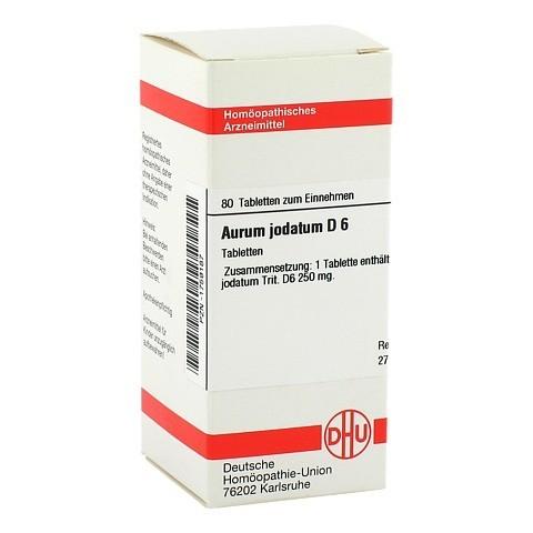 AURUM JODATUM D 6 Tabletten 80 Stück N1