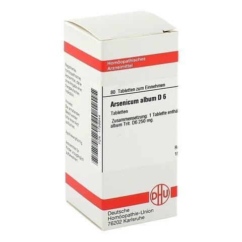 ARSENICUM ALBUM D 6 Tabletten 80 Stück N1