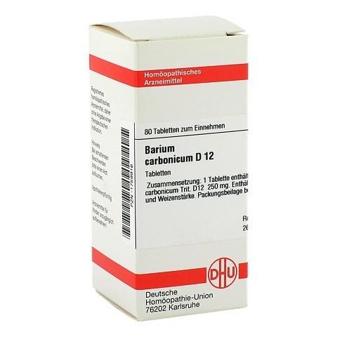 BARIUM CARBONICUM D 12 Tabletten 80 Stück N1