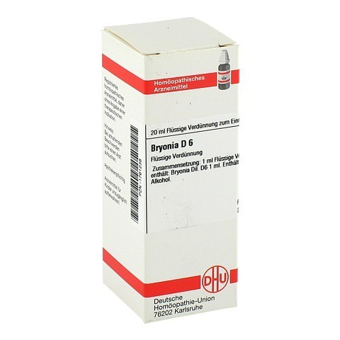 BRYONIA D 6 Dilution 20 Milliliter N1