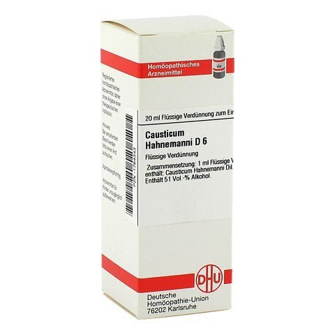 CAUSTICUM HAHNEMANNI D 6 Dilution 20 Milliliter N1
