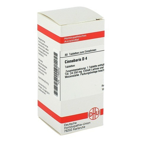 CINNABARIS D 4 Tabletten 80 Stück N1