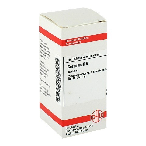 COCCULUS D 6 Tabletten 80 Stück N1