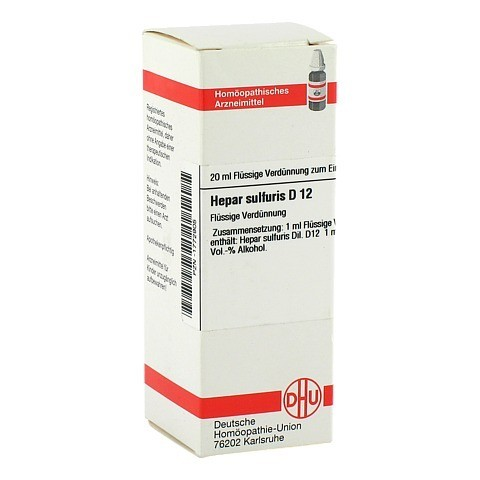 HEPAR SULFURIS D 12 Dilution 20 Milliliter N1