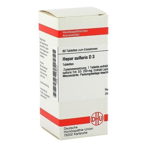 HEPAR SULFURIS D 3 Tabletten 80 Stück N1