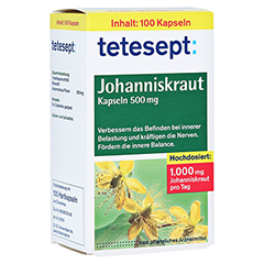 Tetesept Johanniskraut 500mg 100 Stück