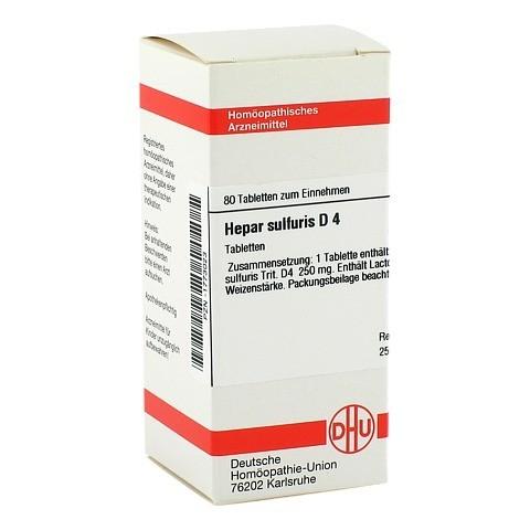 HEPAR SULFURIS D 4 Tabletten 80 Stück N1