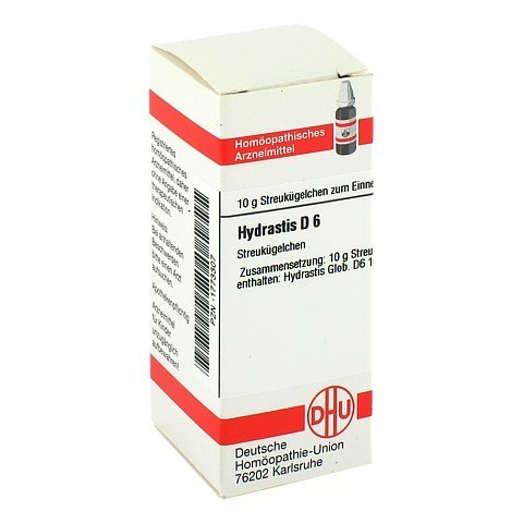 HYDRASTIS D 6 Globuli 10 Gramm N1