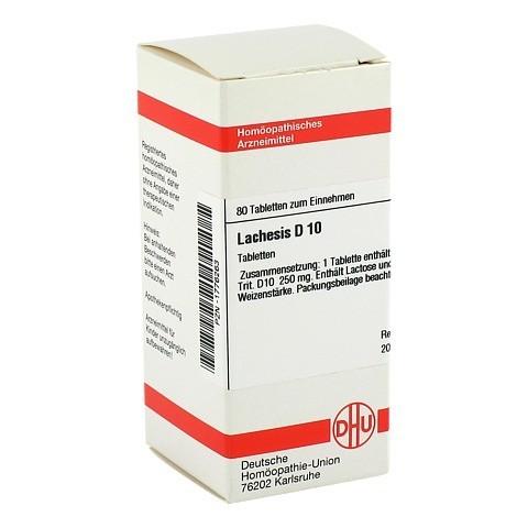 LACHESIS D 10 Tabletten 80 Stück N1