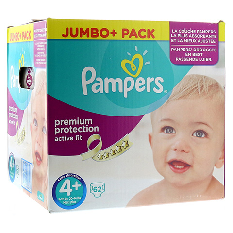 PAMPERS Active Fit Gr.4+ maxi plus 9-20kg Jumbo 62 Stück