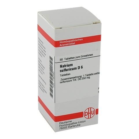 NATRIUM SULFURICUM D 6 Tabletten 80 Stück N1