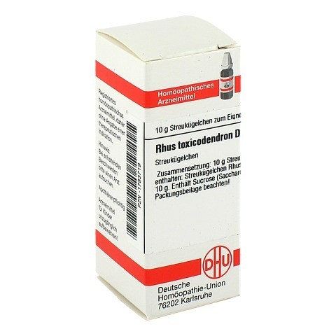 RHUS TOXICODENDRON D 4 Globuli 10 Gramm N1
