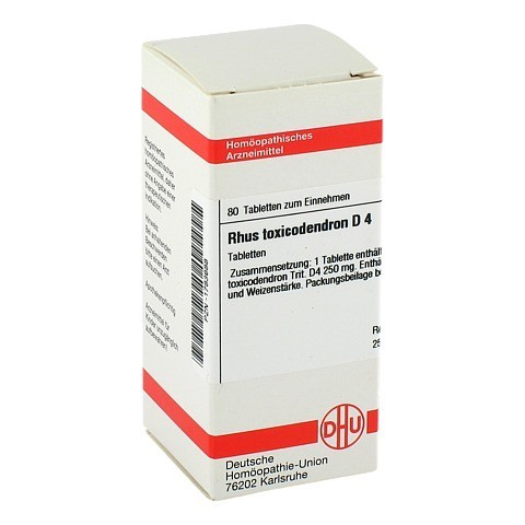 RHUS TOXICODENDRON D 4 Tabletten 80 Stück N1