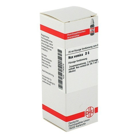 NUX VOMICA D 6 Dilution 20 Milliliter N1