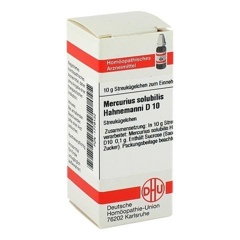 MERCURIUS SOLUBILIS Hahnemanni D 10 Globuli 10 Gramm N1