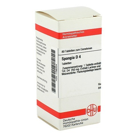 SPONGIA D 4 Tabletten 80 Stück N1
