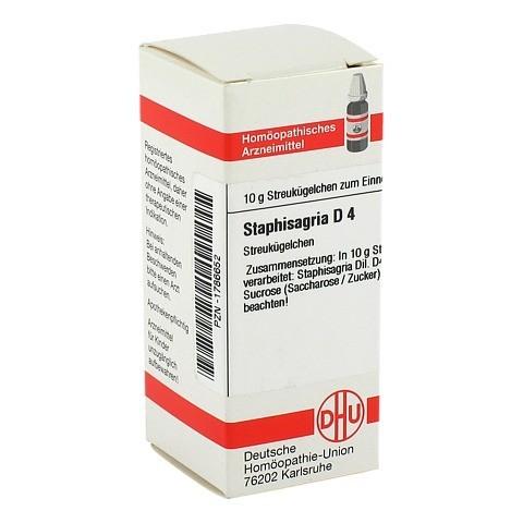 STAPHISAGRIA D 4 Globuli 10 Gramm N1