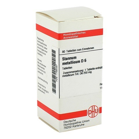 STANNUM METALLICUM D 6 Tabletten 80 Stück N1