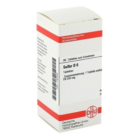 SULFUR D 6 Tabletten 80 Stück N1