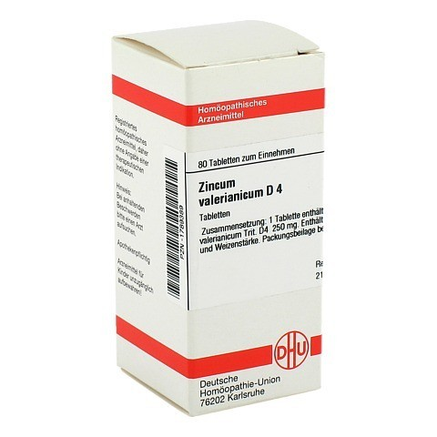ZINCUM VALERIANICUM D 4 Tabletten 80 Stück N1