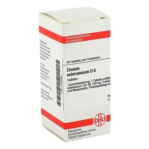 ZINCUM VALERIANICUM D 6 Tabletten 80 Stück N1
