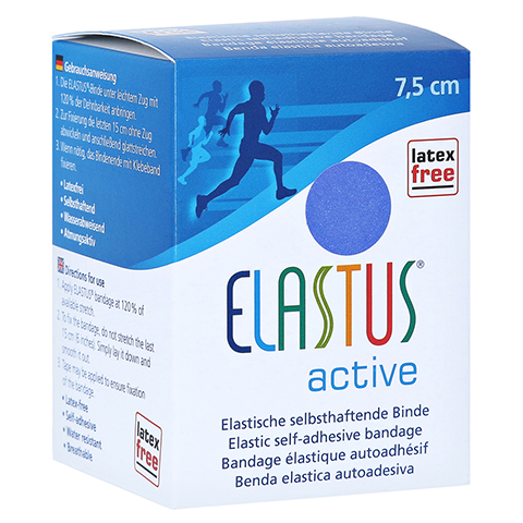 ELASTUS Active Sportbandage 7,5 cmx4,6 m blau 1 Stück